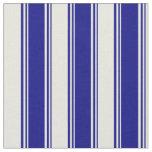 [ Thumbnail: Blue & Beige Stripes Fabric ]