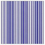 [ Thumbnail: Blue & Beige Stripes/Lines Pattern Fabric ]