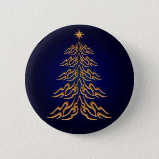 Blue Bell  Christmas Tree Button