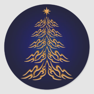 Blue Bell  Christmas Tree Stickers