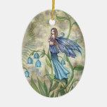 Blue Bell Flower Fairy Ornament