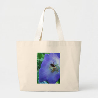 Blue Bell Flower with Bee Tote Bag
