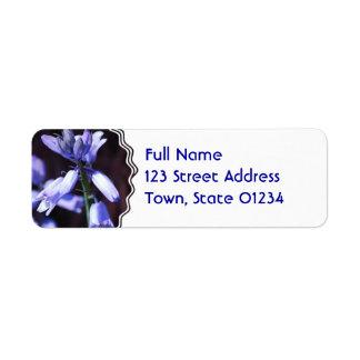 Blue Bell Flowers Return Address Mailing Label Return Address Label