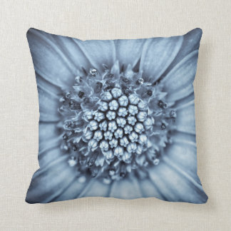Blue Bell Tunicate Centered with Selenium Filter Throw Pillow