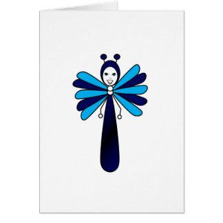 Blue 'Bella' Butterfly Card