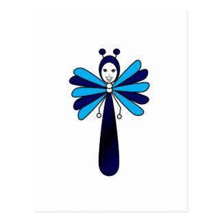 Blue 'Bella' Butterfly Postcard