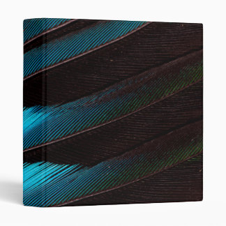 Blue-Bellied Roller Feather Abstract 3 Ring Binder