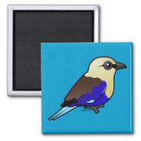 Blue-bellied Roller Square Magnet