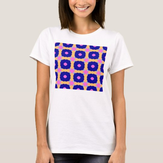 blue bells pattern T-Shirt