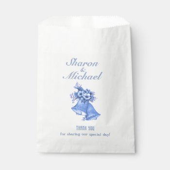 Blue Bells Wedding Favor Bag