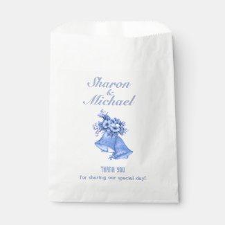 Blue Bells Wedding Favor Bags