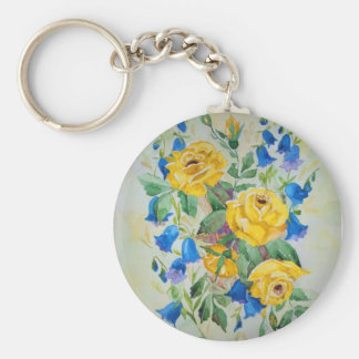 Blue bells with roses keychain