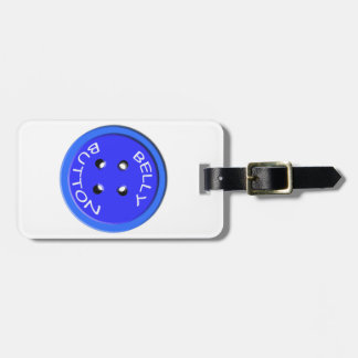 blue belly button bag tag