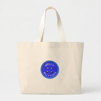 blue belly button large tote bag