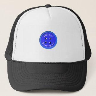 blue belly button trucker hat