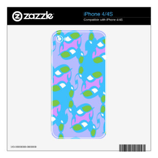 Blue Berry Art Deco Decals For iPhone 4S