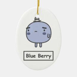 Blue Berry Ceramic Ornament