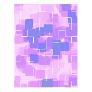 """Blue Berry"" Geometric  Art Postcard"