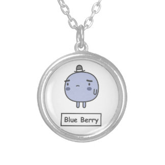 Blue Berry Round Pendant Necklace