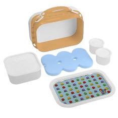 Blue Berry Pattern Yubo Lunchbox at Zazzle