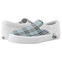 Blue Berry Plaid Women's Zipz Shoes