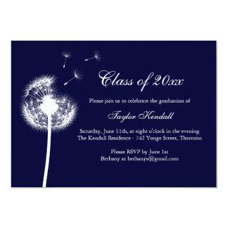 "Blue Best Wishes Graduation Invitation 5"" X 7"" Invitation Card"