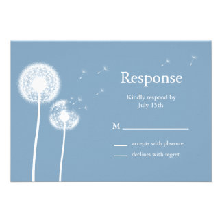 Blue Best Wishes! RSVP Personalized Invitations