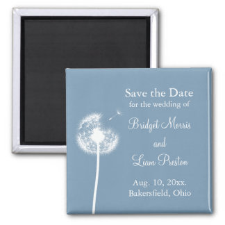 Blue Best Wishes! Save the Date Fridge Magnet