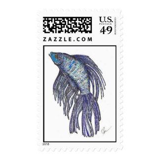 Blue Betta Dazzle Stamp