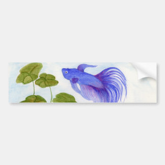 Blue Betta Fish Bumper Sticker