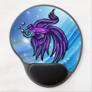 Blue Betta Gel Mouse Pad