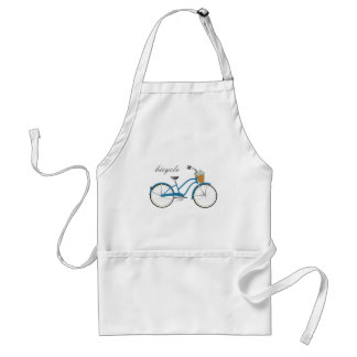 Blue Bicycle Adult Apron