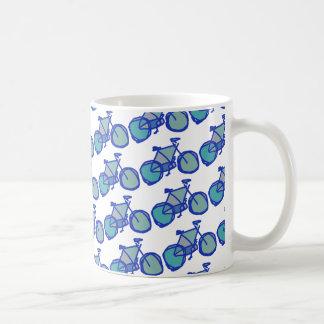 blue bicycle coffee mug