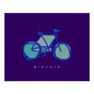 blue bicycle decorative print