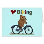 Blue Bicycle I Love Biking Tshirts and Gifts Card