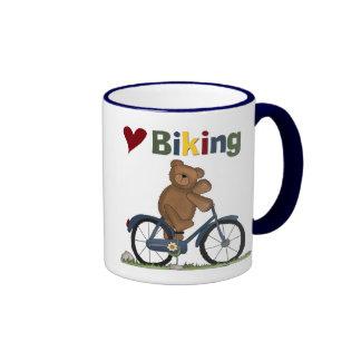 Blue Bicycle I Love Biking Tshirts and Gifts Coffee Mug