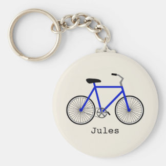 Blue Bicycle Keychain