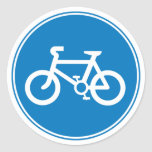 Blue Bicycle Large Sticker