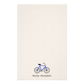 Blue Bicycle Personalized Stationery