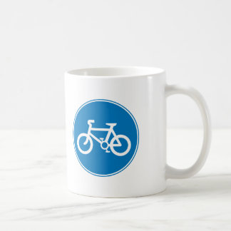 Blue Bicycle Sign Coffee Mug