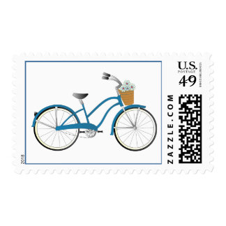 Blue Bicycle Stamp