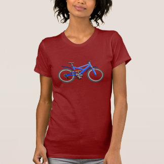 Blue Bicycle Womens T-Shirt