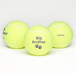 Blue Big Brother Pet Dog Cat Toy with Name Tennis Balls