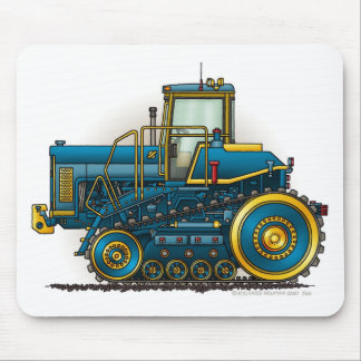 Blue Big Dozer Tractor Mouse Pads