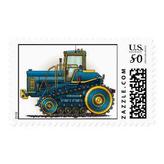 Blue Big Dozer Tractor Stamps
