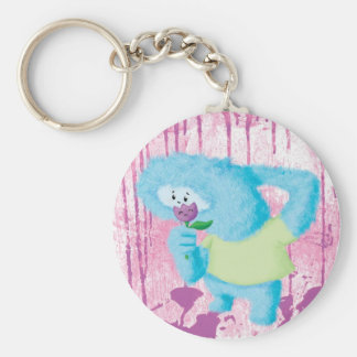 Blue Big Furry Monster Keychains