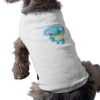 Blue Big Furry Monster Pet Shirt