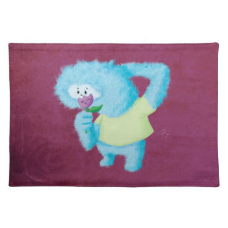 Blue Big Furry Monster Placemats