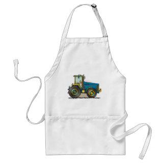 Blue Big Tractor Mugs Adult Apron
