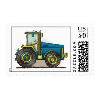 Blue Big Tractor Stamps
